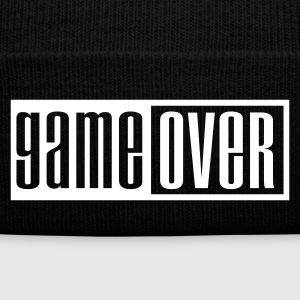 Negro game over outline Gorras - Gorro de invierno