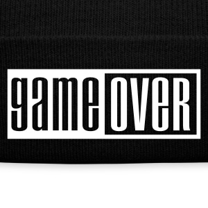 Black game over outline Caps & Hats - Winter Hat