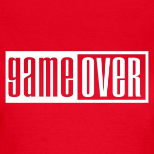 Rot game over outline T-Shirts - Frauen T-Shirt