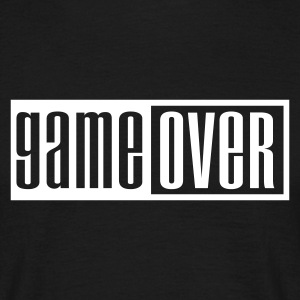 Sort game over outline T-shirts - Herre-T-shirt