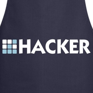 Navy Hacker (2c)  Aprons - Cooking Apron