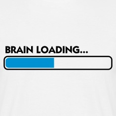 White Brain Loading (2c) Men's T-Shirts