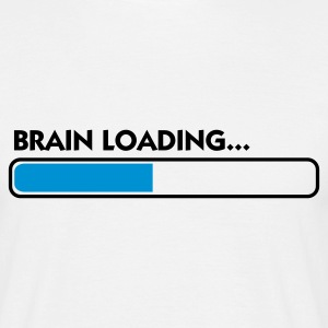 Hvid Brain Loading (2c) T-shirts - Herre-T-shirt