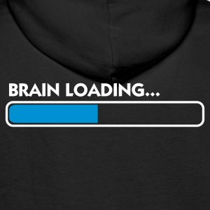 Black Brain Loading (2c) Hoodies & Sweatshirts - Men's Premium Hoodie