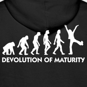 Black Devolution of Maturity (1c) Hoodies & Sweatshirts - Men's Premium Hoodie