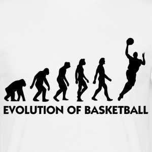 Blanc Evolution of Basketball 2 (1c) T-shirts - T-shirt Homme