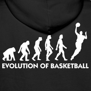 Black Evolution of Basketball 2 (1c) Hoodies & Sweatshirts - Men's Premium Hoodie