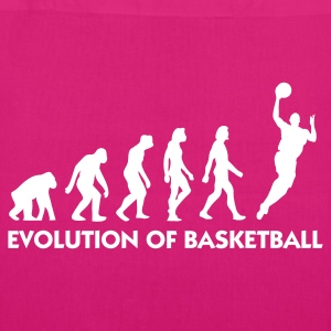 Black Evolution of Basketball 2 (1c) Bags  - EarthPositive Tote Bag
