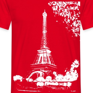 Rouge Tour Eiffel (White-Transparence) T-shirts - T-shirt Homme