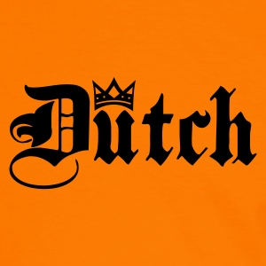 Orange/white Dutch with Crown Men's T-Shirts - Men's Ringer Shirt