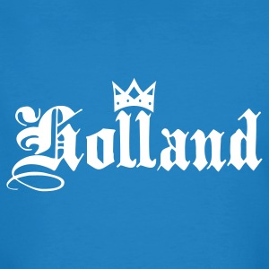 Pauwblauw Holland with crown T-shirts - Mannen Bio-T-shirt