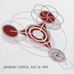 Crop Circle T-Shirt Barbury Castle Red - Women's Ringer T-Shirt