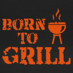 Black Born to Grill (BBQ) T-Shirts - Women's T-Shirt