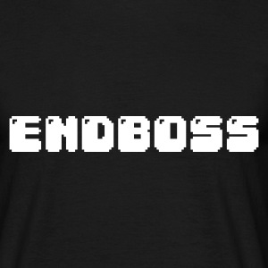 Zwart endboss retro pixel gamer T-shirts - Mannen T-shirt