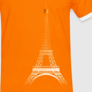 Orange/blanc Tour Eiffel ORANGE T-shirts - T-shirt contraste Homme