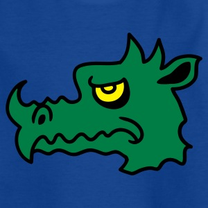 Royalblau Böser Drachen 3 Kinder T-Shirts - Teenager T-Shirt