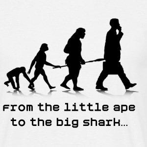 From the little ape to the big shark… - Men's T-Shirt