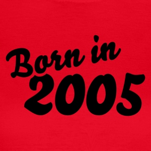 Rot Born in 2005 T-Shirts - Frauen T-Shirt