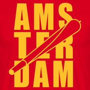 Red Amsterdam Holland Joint 1farbig Men's T-Shirts - Men's T-Shirt