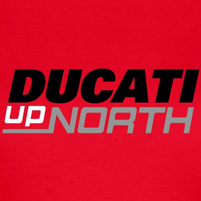 DuN t-shirt (ladies, dark logo), sold in aid of GNAA & YAA