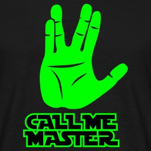 Schwarz Call me Master © T-Shirts - T-skjorte for menn
