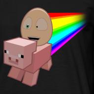 Design ~ Nyan Pig - Mens T-Shirt