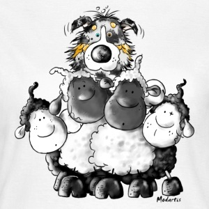 Australian Shepherd and sheep - Dog T-Shirts - Women's T-Shirt
