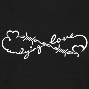 undying love (Stacheldraht / barbed wire, 1c) T-Shirts - Männer T-Shirt