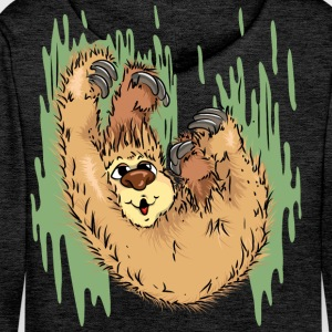 Sloth has fun Hoodies & Sweatshirts - Men's Premium Hoodie