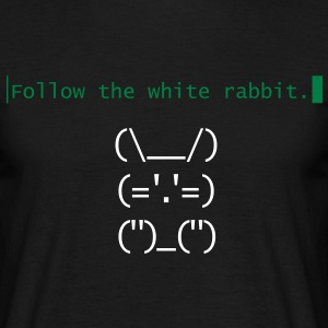Follow the white rabbit Neo - Männer T-Shirt