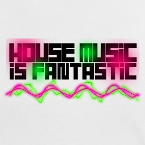 HOUSE MUSIC IS FANTASTIC - T-shirt contraste Femme