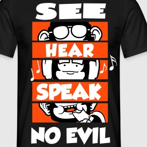 See Hear Speak (No Evil) T-Shirts - Männer T-Shirt