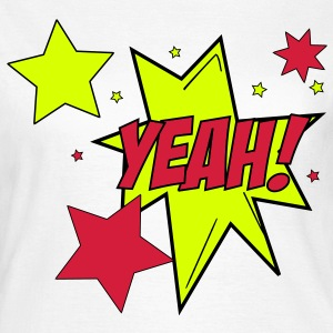 Comic Style Yeah ! Star Sterne Cartoon 3c T-Shirts - Frauen T-Shirt