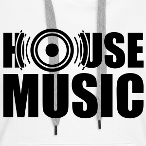 House Music, speakers, headphones, bass, drum Hoodies & Sweatshirts - Women's Premium Hoodie