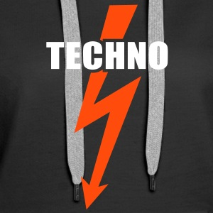 Techno Beats musique  Basse Batterie  Sweat-shirts - Sweat-shirt à capuche Premium pour femmes