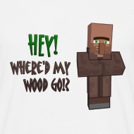 Design ~ Where'd my wood go!?  Mens shirt