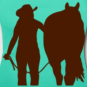 Cowgirl and horse T-Shirts - Women's Scoop Neck T-Shirt