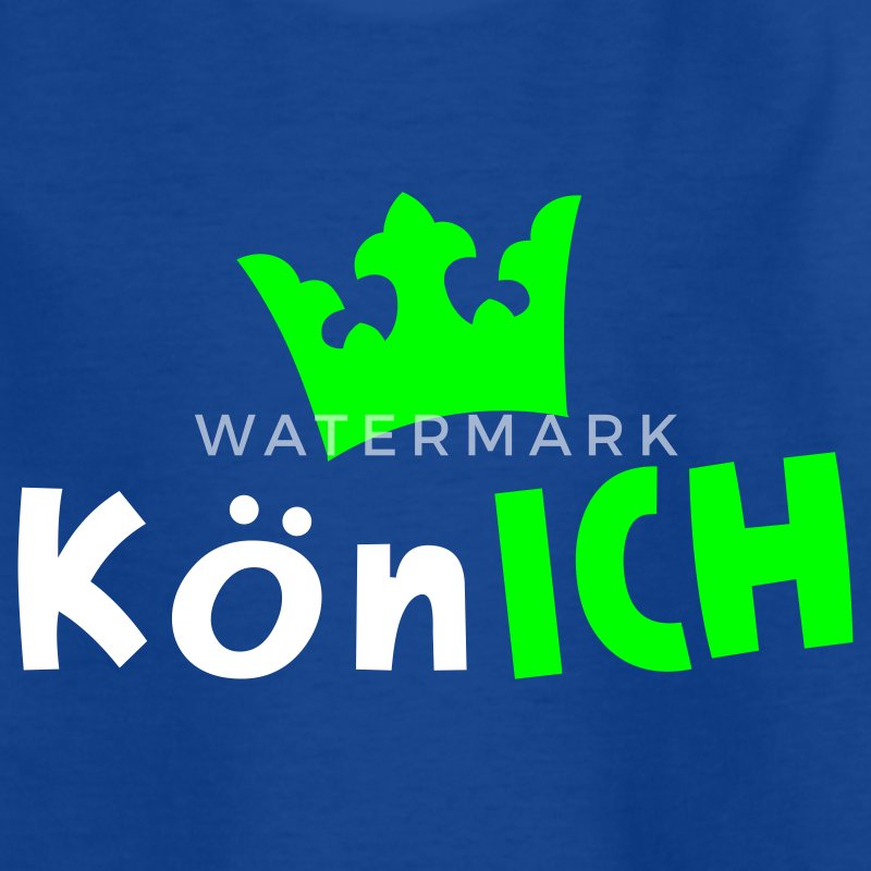 Royalblau KönICH Kinder T-Shirts - Teenager T-Shirt
