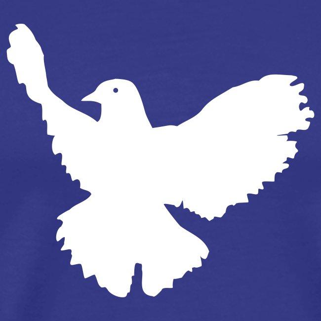 Friedenstaube auf blau