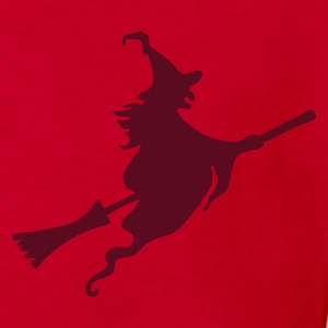 Red Witch with broom Kids' Shirts - Kids' Organic T-shirt