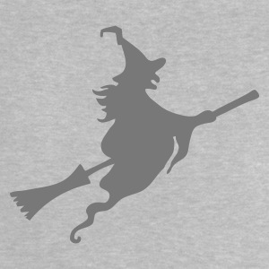 Heather grey Witch with broom Baby Shirts  - Baby T-Shirt