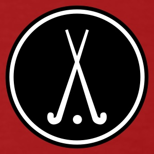 Dark red hockey sports club team ball hockey racket Men's T-Shirts - Men's Organic T-shirt