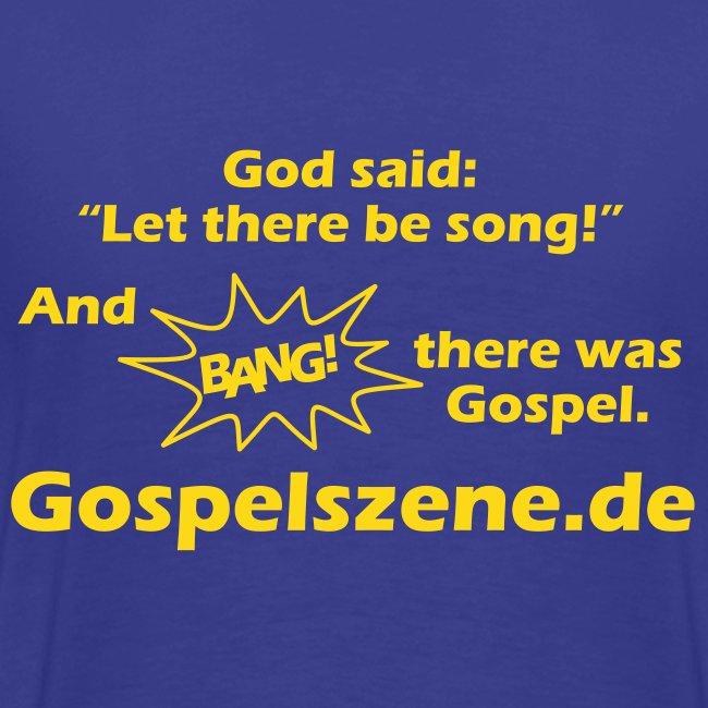 Vorne dein Wunschtext, hinten Gospelszene.de