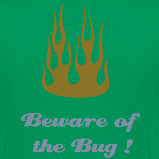 "1HC motif coeur + dos ""Flamming - Beware to the Bug"""