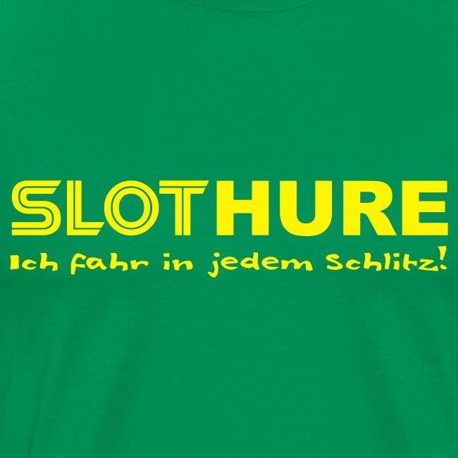 SLOTHURE - Shirt: grasgrün; Druck: gelb