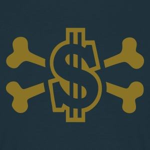 Navy Dollar with Bones T-Shirts - Männer T-Shirt
