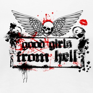 Weiß Good Girls From Hell Girlie - Frauen Premium T-Shirt