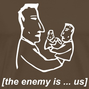 Braun the enemy is us T-Shirt - Männer Premium T-Shirt