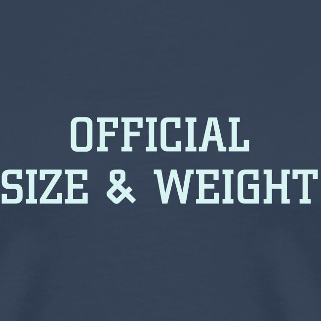 Official size & weight