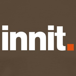 innit logo - chocolate - Men's Premium T-Shirt